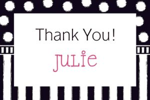 Custom Chalkboard Birthday Thank You Note