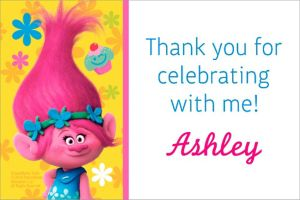 Custom Trolls Thank You Note