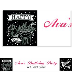 Custom Chalkboard Dots Birthday Banner