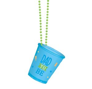 Dad-to-Be Shot Glass Bead Necklace