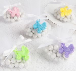 Gender-Neutral Stroller Baby Shower Favor Charms 12ct