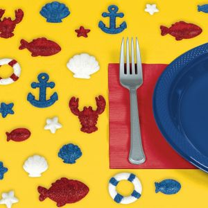 Glitter Nautical Table Scatter 20ct