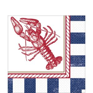 Striped Nautical Lunch Napkins 16ct