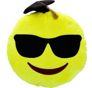 Sunglasses Smiley Graduation Pillow Plush