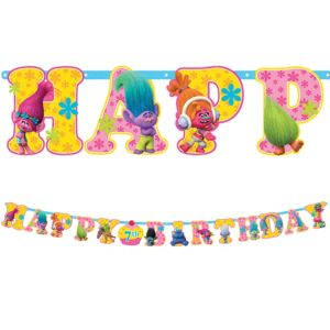 Trolls Birthday Banner Kit