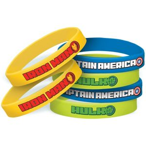 Avengers Wristbands 6ct Party City