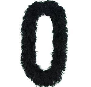 Black Faux Fur Featherless Boa Lei