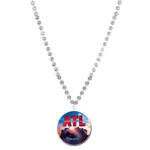 Super Bowl Pendant Bead Necklace