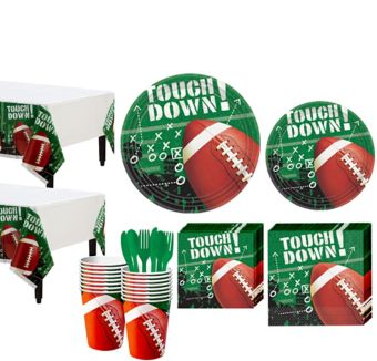 Football Frenzy Value Pack Party Kit for 50 Guests