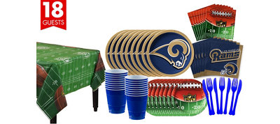 Los Angeles Rams Super Party Kit for 18 Guests for 18 Guests