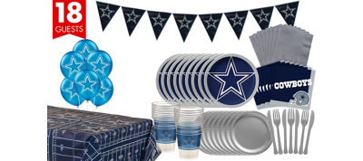 Dallas Cowboys Deluxe Party Kit for 18 Guests