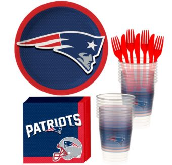 New England Patriots Basic Party Kit for 18 Guests