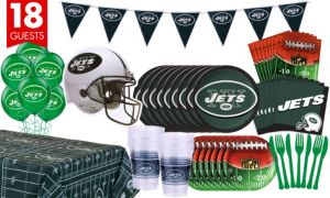 New York Jets Deluxe Party Kit for 18 Guests