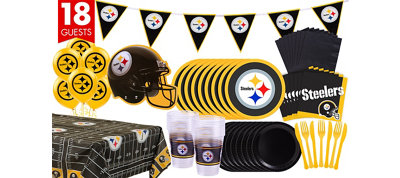 Pittsburgh Steelers Deluxe Party Kit for 18 Guests