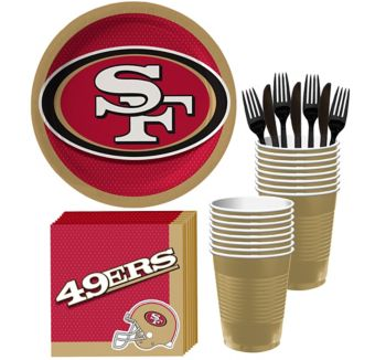 San Francisco 49ers Basic Party Kit for 18 Guests