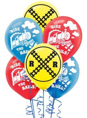 Train Balloons 6ct
