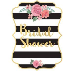 Black & Gold Bridal Shower Invitations 8ct