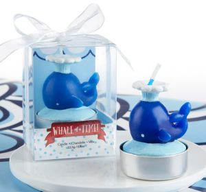 Whale Tealight Candles 4ct