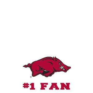 Arkansas Razorbacks #1 Fan Decal