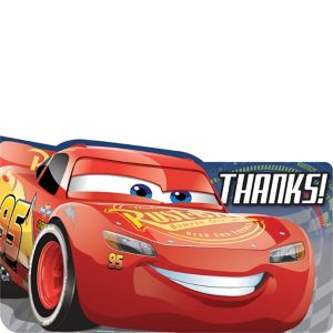 Cars 3 Thank You Notes 8ct