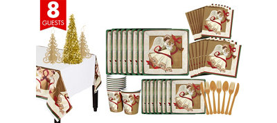 Holiday Spirit Tableware Kit for 8 Guests