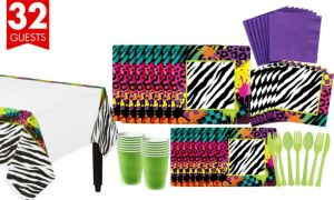 Totally 80s Tableware Kit for 32 Guests