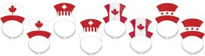Canadian Maple Leaf Top Hat Headbands 8ct