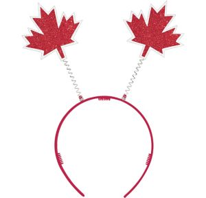 Glitter Canadian Maple Leaf Head Bopper