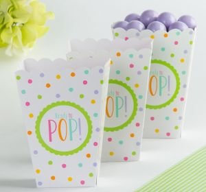 Gender-Neutral Baby Shower Popcorn Boxes 20ct