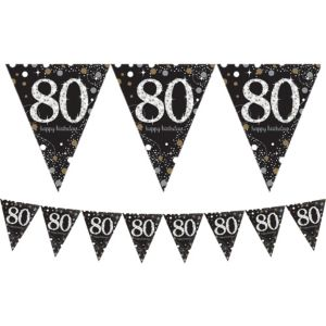 Prismatic 80th Birthday Pennant Banner - Sparkling Celebration