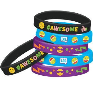Smiley Wristbands 6ct