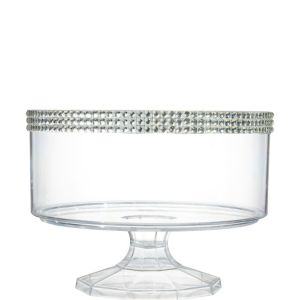 Small Rhinestone Clear Plastic Trifle Container