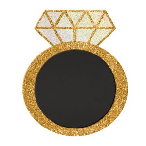 Glitter Diamond Ring Chalkboard Sign