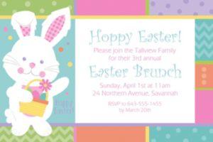 Custom Hippity Hop Easter Bunny Invitation