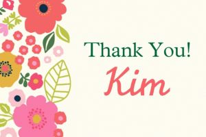 Custom Coral Floral Thank You Note
