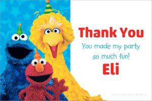 Custom Sesame Street Thank You Note