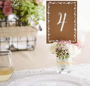 Kraft Table Number Cards 1-20