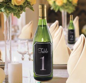 Table Number Bottle Labels 1-20