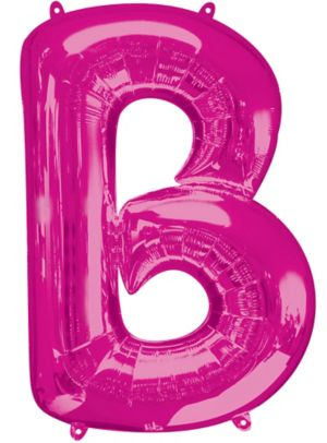 Giant Pink Letter B Balloon