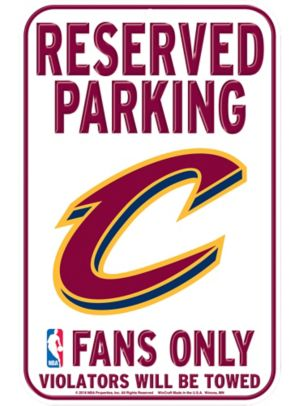 Reserved Parking Cleveland Cavaliers Sign