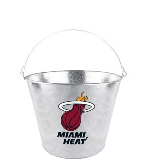 Miami Heat Galvanized Bucket