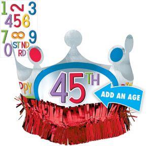 Rainbow Happy Birthday Crown Kit