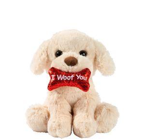 Golden I Woof You Dog Plush