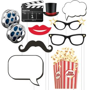 Hollywood Movie Night Photo Booth Props 10ct