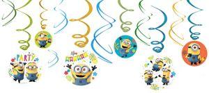 Minions Swirl Decorations 12ct