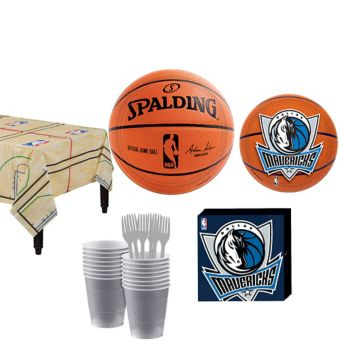 Dallas Mavericks Basic Party Kit 16 Guests