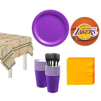 Los Angeles Lakers Basic Party Kit 16 Guests