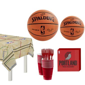 Portland Trail Blazers Basic Party Kit 16 Guests