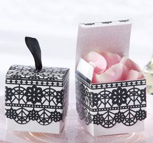 Black Lace Favor Boxes