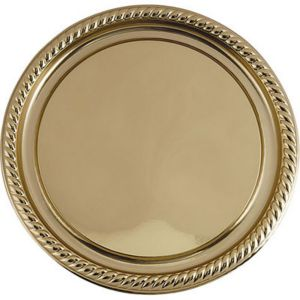 Gold Plastic Braided Edge Platter